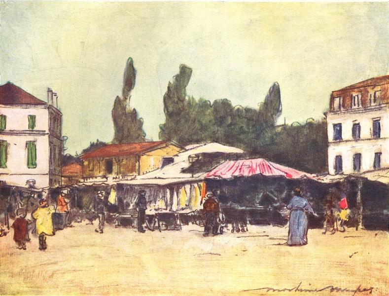 Associate Product PARIS. Marche de Neuilly 1909 old antique vintage print picture