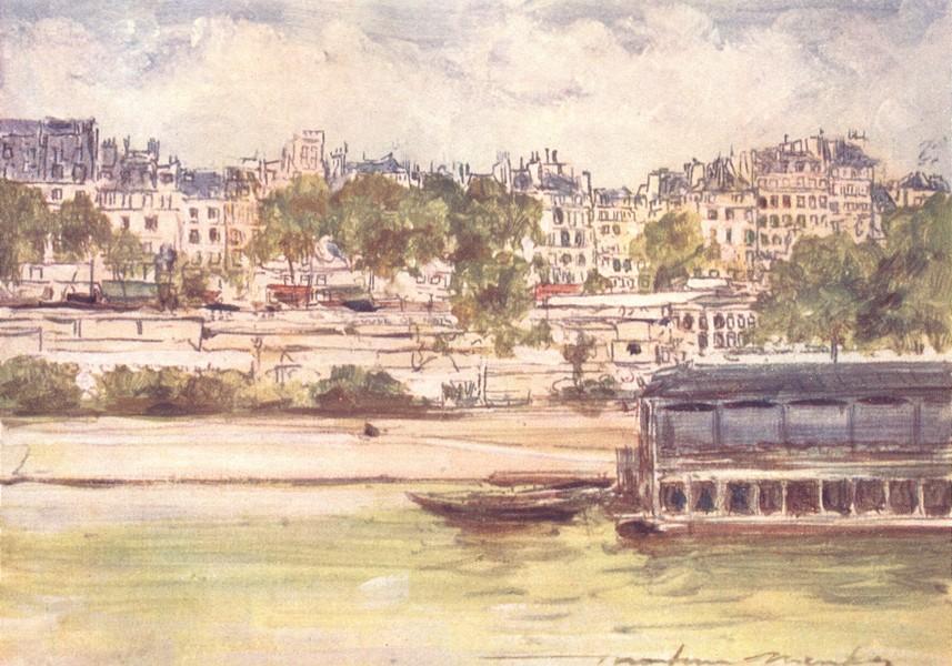 Associate Product PARIS. Wash-House near Pont Neuf 1909 old antique vintage print picture
