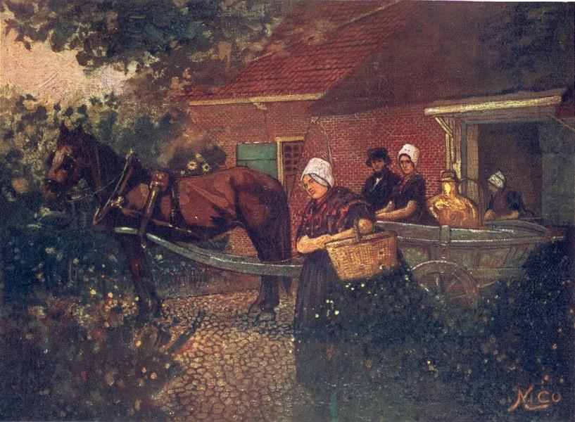 Associate Product NETHERLANDS. North Brabant. A Walcheren Milk-cart 1904 old antique print