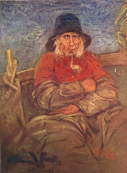 Associate Product NETHERLANDS. South Holland. An old fisherman of Scheveningen 1904 print
