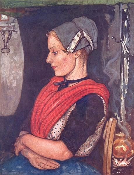 Associate Product NETHERLANDS. Gelderland. A girl of Elspeet 1904 old antique print picture