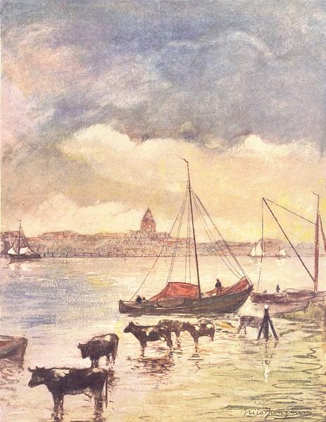 Associate Product NETHERLANDS. Overijssel. The River Ysel 1904 old antique vintage print picture