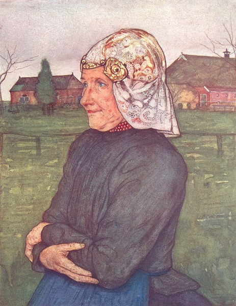 Associate Product NETHERLANDS. Drenthe. Old woman of Drenthe 1904 antique print picture
