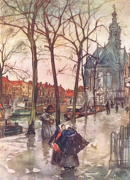 Associate Product NETHERLANDS. Drenthe. Canal de Turfmarket, Hague 1904 old antique print