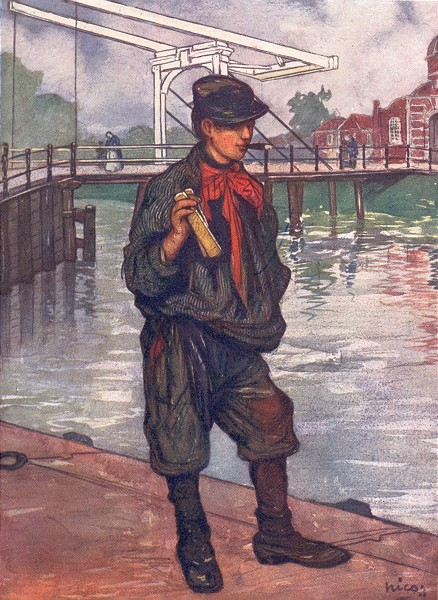 Associate Product NETHERLANDS. North. An Amsterdam street-boy with clappers 1904 old print