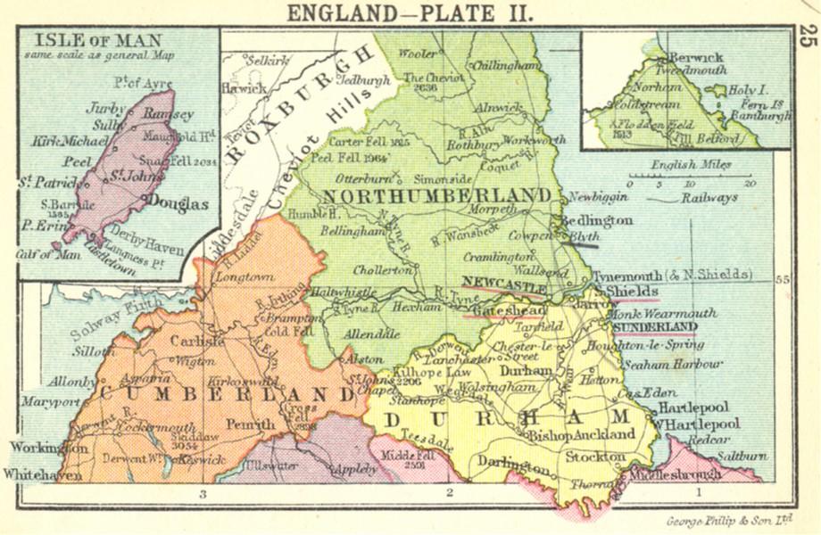 Associate Product ENGLAND. England-Plate II; Small map 1912 old antique vintage plan chart