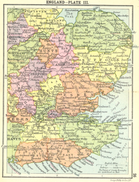 Associate Product ENGLAND. England-Plate III; Small map 1912 old antique vintage plan chart