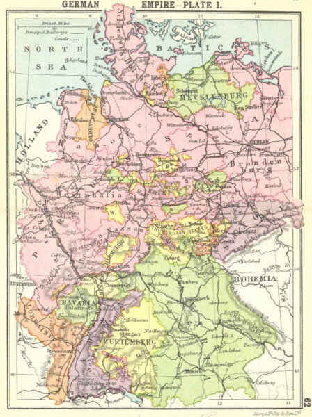 Associate Product GERMANY. German Empire-Plate I; Small map 1912 old antique plan chart