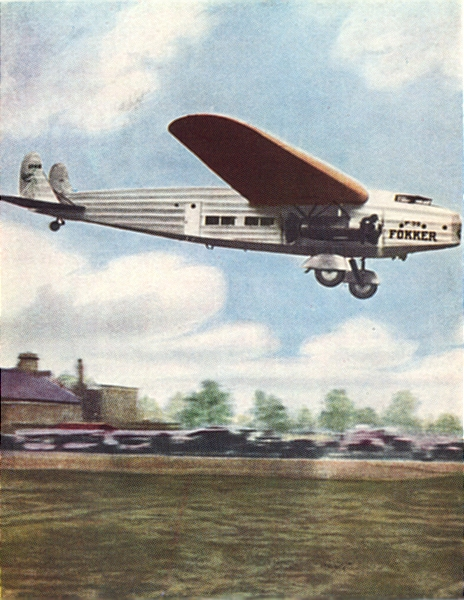NETHERLANDS. Fokker 4-engined air-liner(Dutch) 1930 old vintage print picture