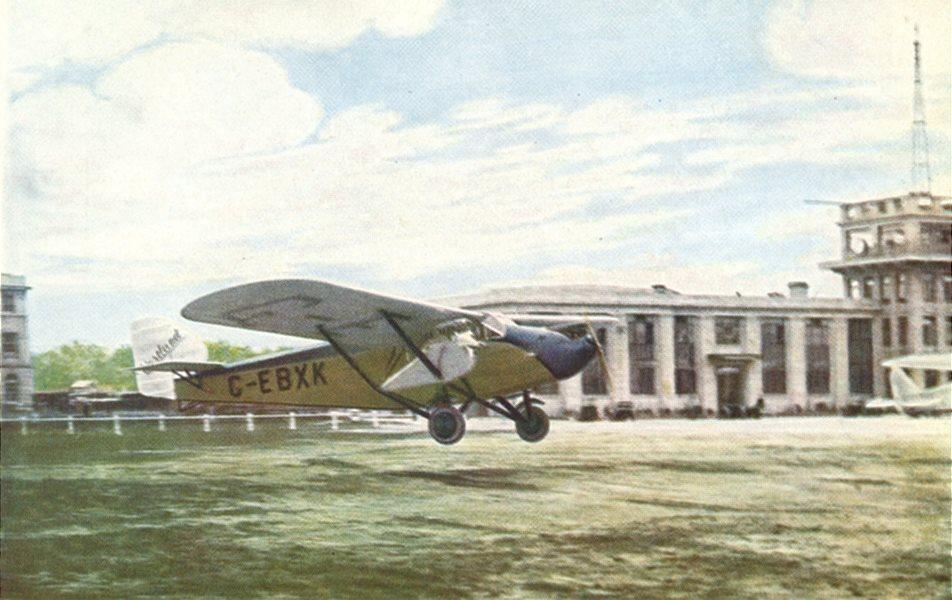 Associate Product LONDON. Westland 3-engined limousine at Croydon Aerodrome 1930 old print
