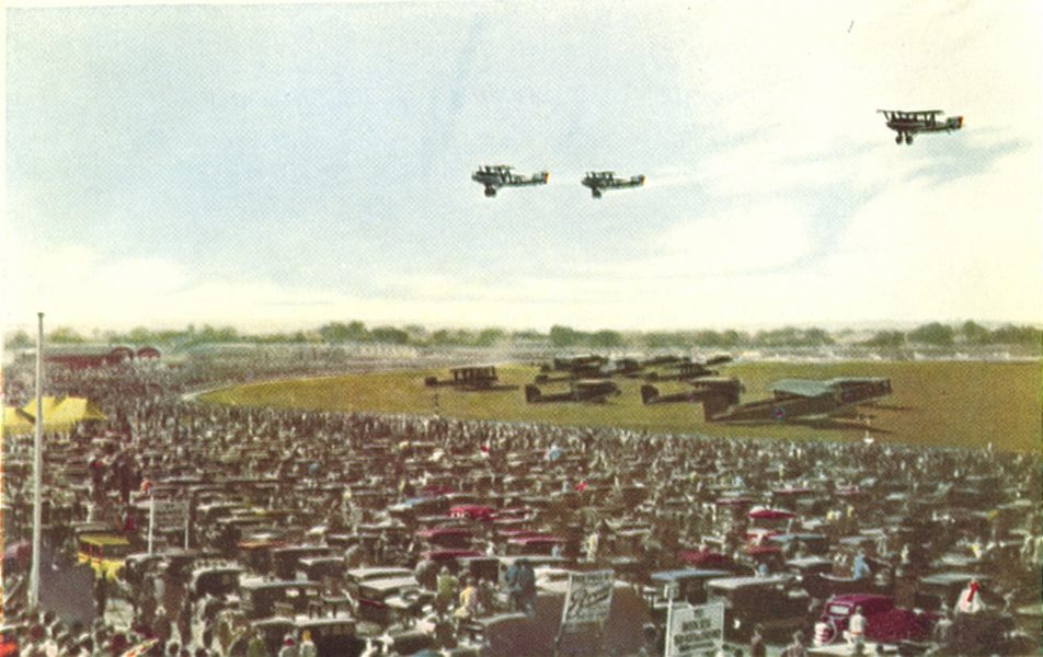 Associate Product LONDON. Royal Air Force display at Hendon 1930 old vintage print picture