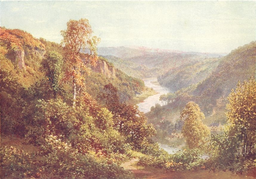Associate Product HEREFORDSHIRE. Symond's Yat 1926 old vintage print picture