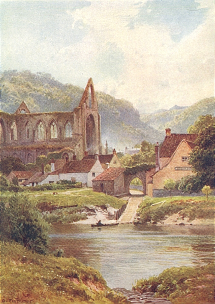 Associate Product WALES. The Ferry at Tintern 1926 old vintage print picture
