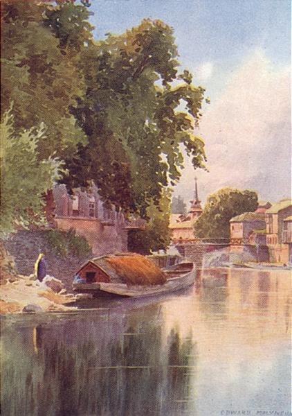 Associate Product KASHMIR. Above the fifth bridge, Srinagar 1924 old vintage print picture