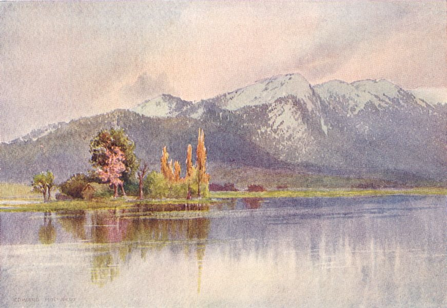 Associate Product KASHMIR. The Kajnag from Sopur, Early spring 1924 old vintage print picture