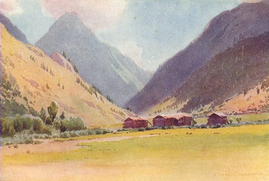 Associate Product KASHMIR. The valley of Gurais 1924 old vintage print picture