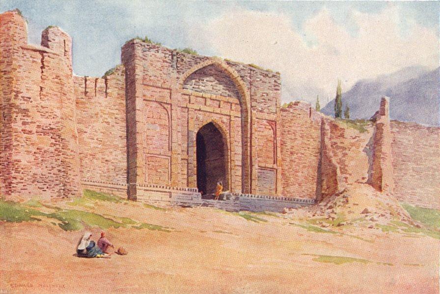Associate Product KASHMIR. Gate of the outer wall, Hari Parbat Fort, Srinagar 1924 old print