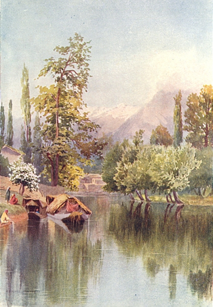 Associate Product KASHMIR. Entrance to the Mar Canal 1924 old vintage print picture
