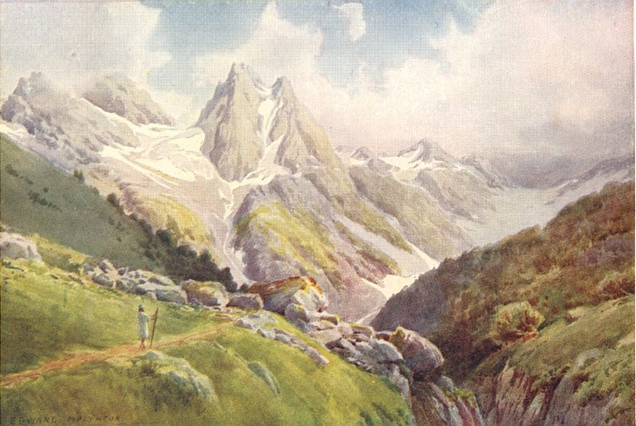 Associate Product KASHMIR. Near the Kolahoi Glacier, Lidar Valley 1924 old vintage print picture