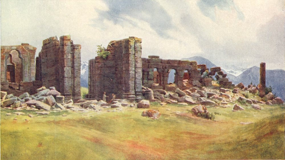 Associate Product KASHMIR. Ruined Gateway of Martand 1924 old vintage print picture