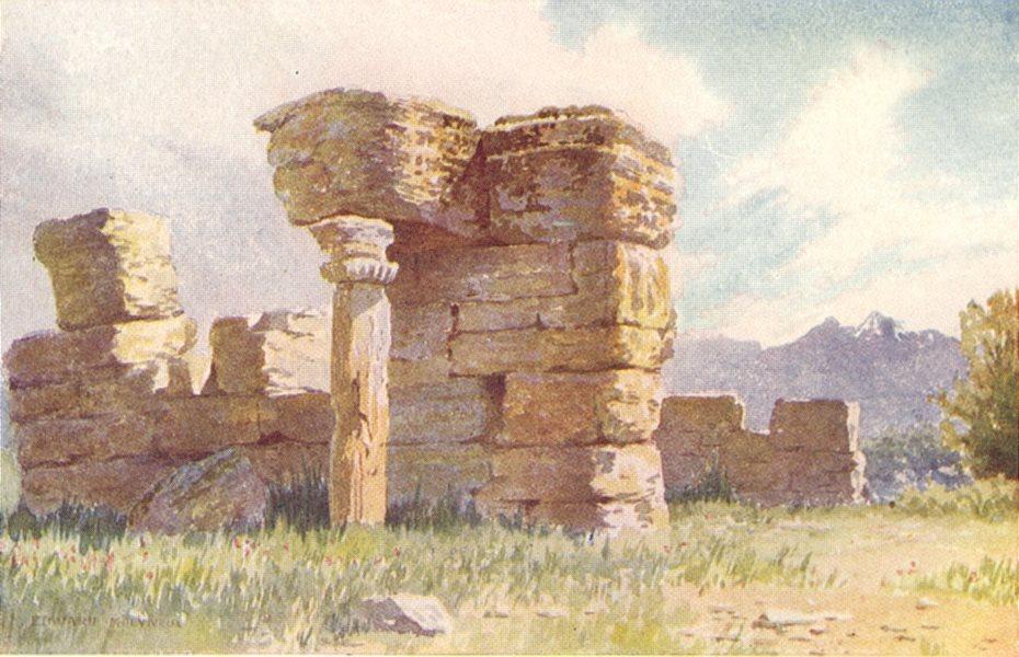 Associate Product KASHMIR. Ruined temples of Avantipur 1924 old vintage print picture