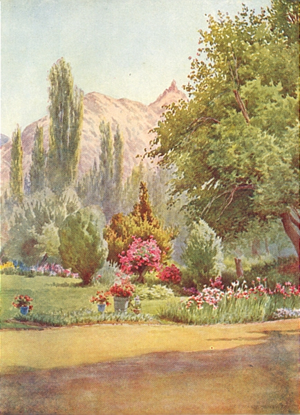Associate Product KASHMIR. The Takht-i-Suliman, from the Residency garden 1924 old vintage print