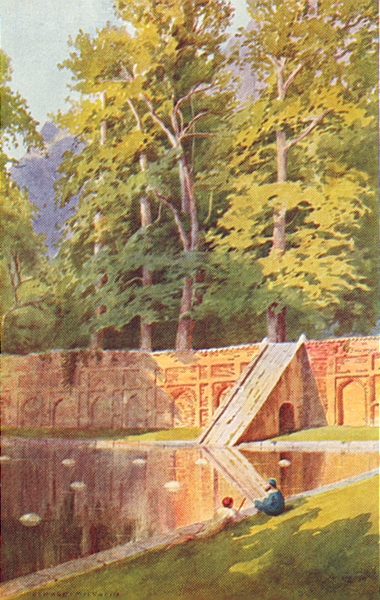 Associate Product KASHMIR. A Terrace of the Nishat Bagh 1924 old vintage print picture