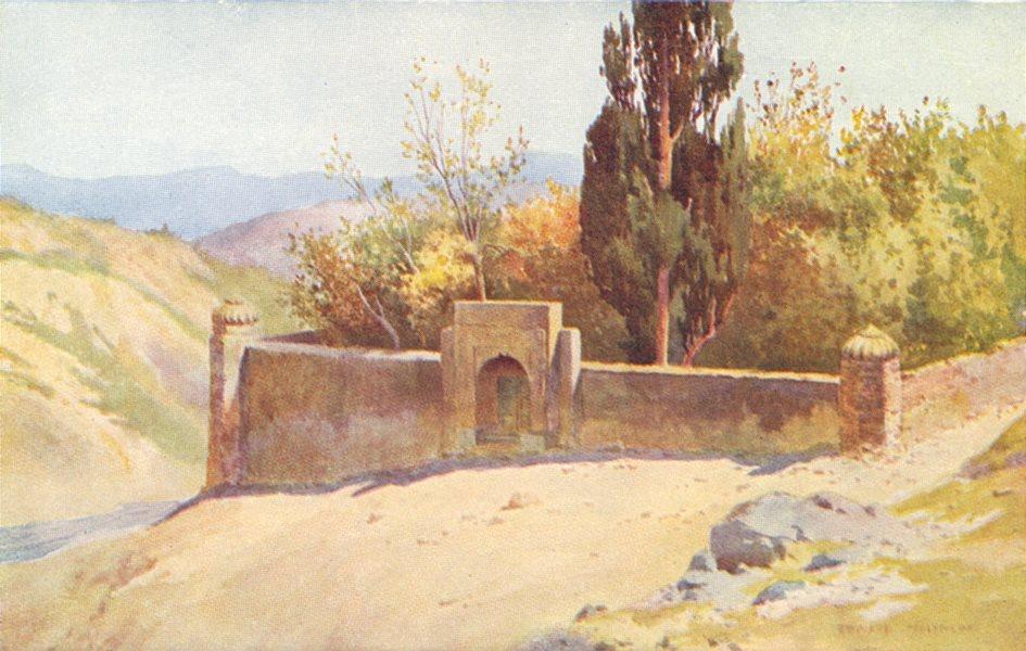 KASHMIR. Lalla Rookh's Tomb, Hassan Abdal 1924 old vintage print picture