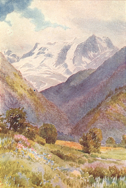 Associate Product KASHMIR. Mount Haramokh, from the Erin Nullah 1924 old vintage print picture