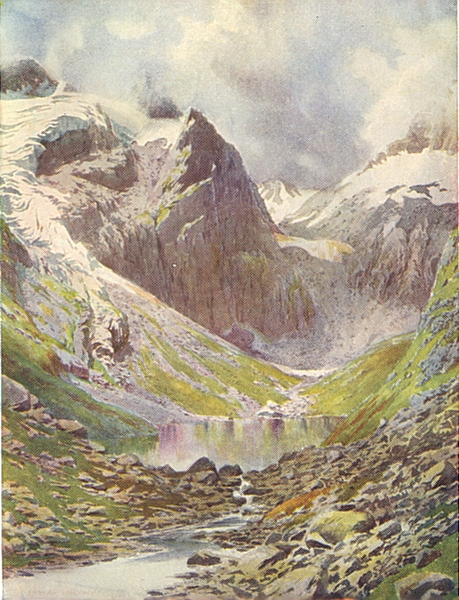 Associate Product KASHMIR. Lake Sinsa Nag, Lidar Valley 1924 old vintage print picture