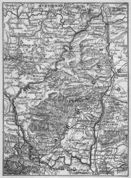 Associate Product ARDÈCHE. Ardeche 1878 old antique vintage map plan chart