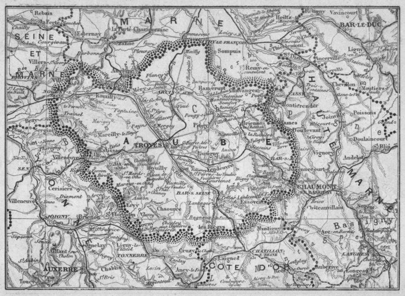 Associate Product AUBE. Aube 1878 old antique vintage map plan chart