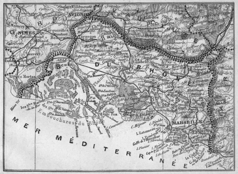Associate Product BOUCHES-DU-RHÔNE. Bouches-du-Rhone 1878 old antique vintage map plan chart