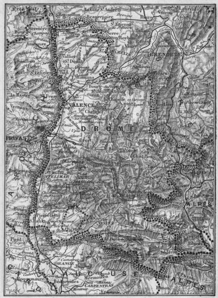 Associate Product DRÔME. Drome 1878 old antique vintage map plan chart
