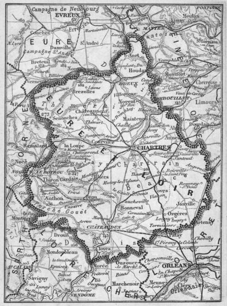 Associate Product EURE-ET-LOIR. Eure-et-Loir 1878 old antique vintage map plan chart