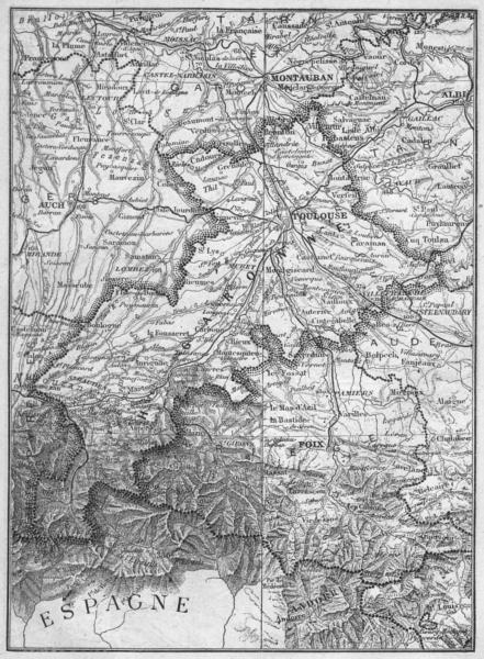 Associate Product HAUTE-GARONNE. Garonne(Haute-) 1878 old antique vintage map plan chart