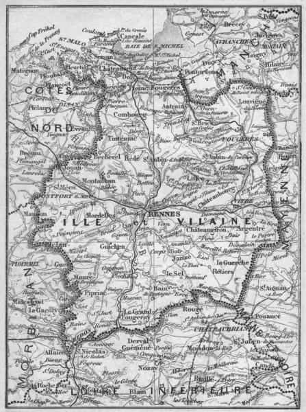 Associate Product ILLE-ET-VILAINE. Ille-et-Vilaine 1878 old antique vintage map plan chart