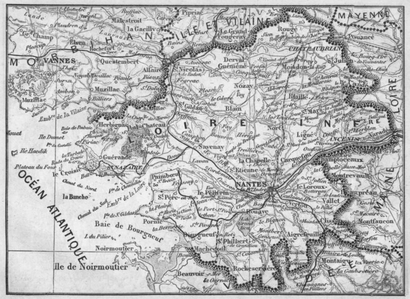 Associate Product LOIRE-ATLANTIQUE. Loire-Inferieure 1878 old vintage map plan chart