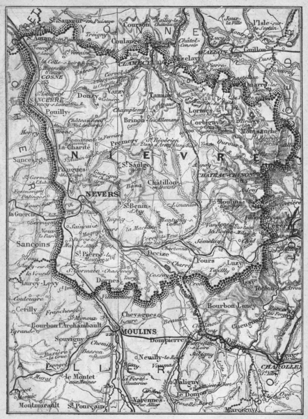 Associate Product NIÈVRE. Nievre 1878 old antique vintage map plan chart