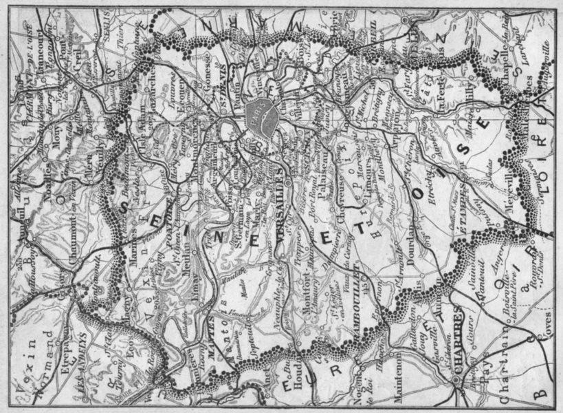 Associate Product FRANCE. Seine-et-Oise 1878 old antique vintage map plan chart