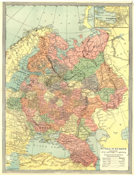 Associate Product RUSSIA IN EUROPE. St. Petersburg environs 1907 old antique map plan chart