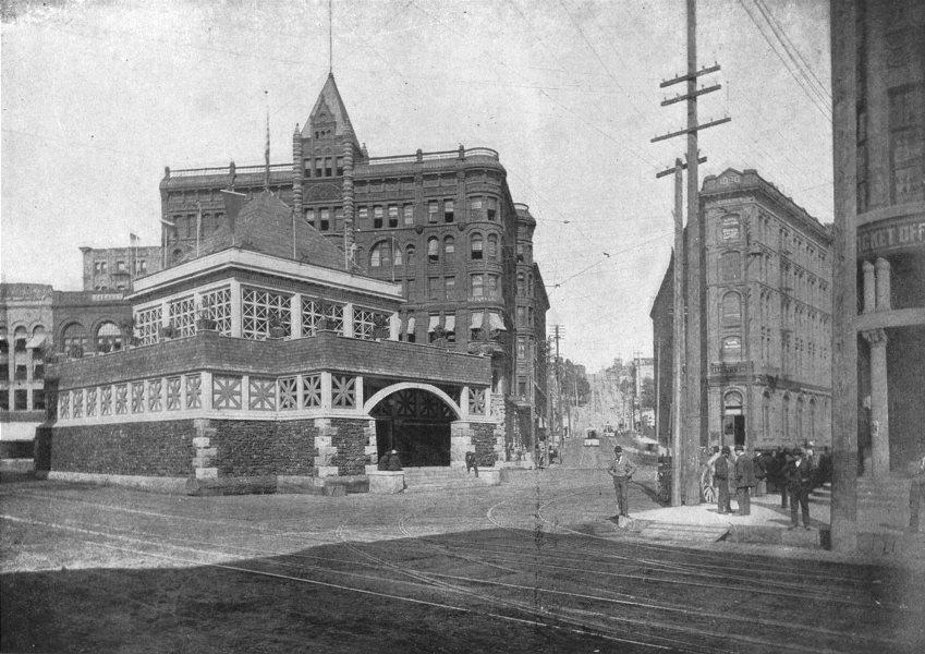 Associate Product WASHINGTON. Seattle business district 1907 old antique vintage print picture