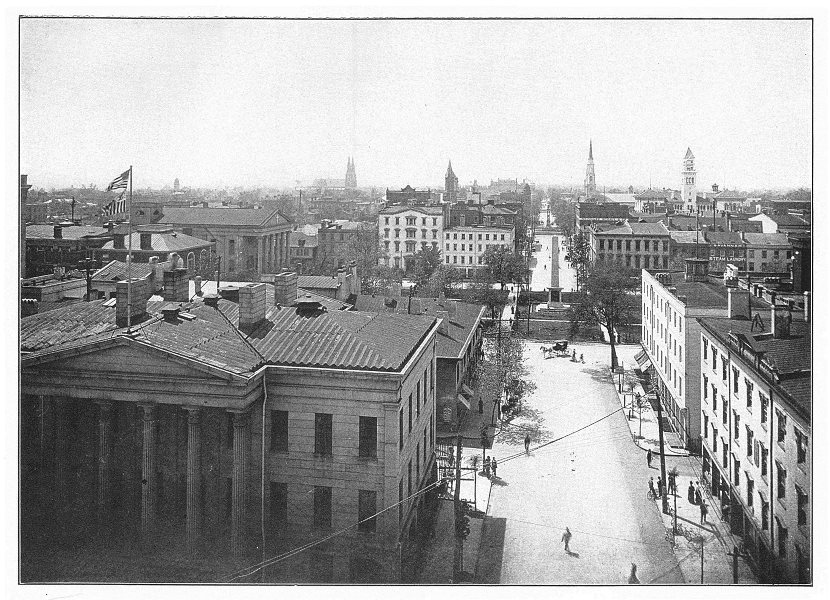 Associate Product GEORGIA, US. A view of Savannah, GA 1907 old antique vintage print picture