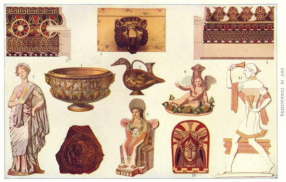 TERRACOTTA.Olympia Pompeii Selinus Hermes Pourtles Dionysian Eros Etruscan 1907