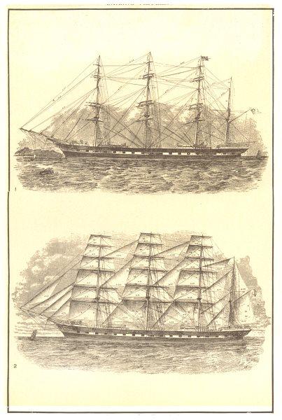 SAILING. Ships; 1 Hull, Spars & Standing Rigging; 2 Sails, Masts & Running 1907