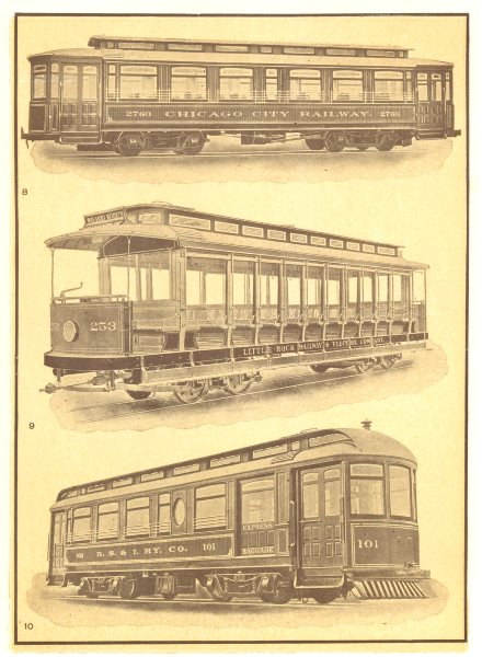 Associate Product St RAILWAY CARS. Double truck car, semi-convertible; open; interurban 1907