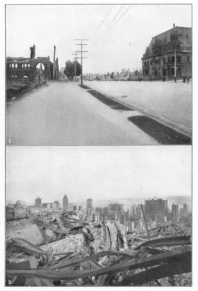 Associate Product SAN FRANCISCO. Earthquake 1906; Van Ness Ave; St Luke's Church; Spreckel 1907