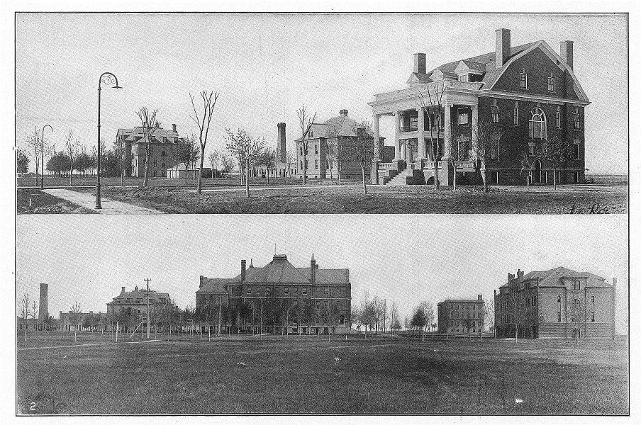 N DAKOTA. State Uni grand forks Davis Hall President House Science Budge 1907
