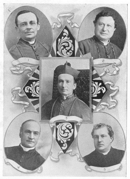 Associate Product ARCHBISHOP. Bruchesi-Montreal Duhamel-Ottawa Begin-Quebec O'Connor-Toronto 1907