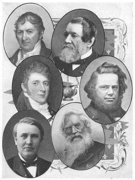 AMERICAN INVENTORS. Whitney Cyrus McCormick Fulton Elias Howe Morse Edison 1907